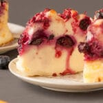 Blackberry Protein Cheesecakes