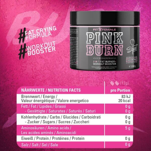 Pink Burn (2 In 1 Fatburner & Booster) 4
