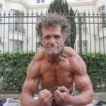 Homeless bodybuilder in a great shape!