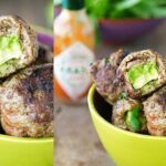 Meatballs stuffed with avocado