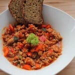 Turkey minced meat with vegetables