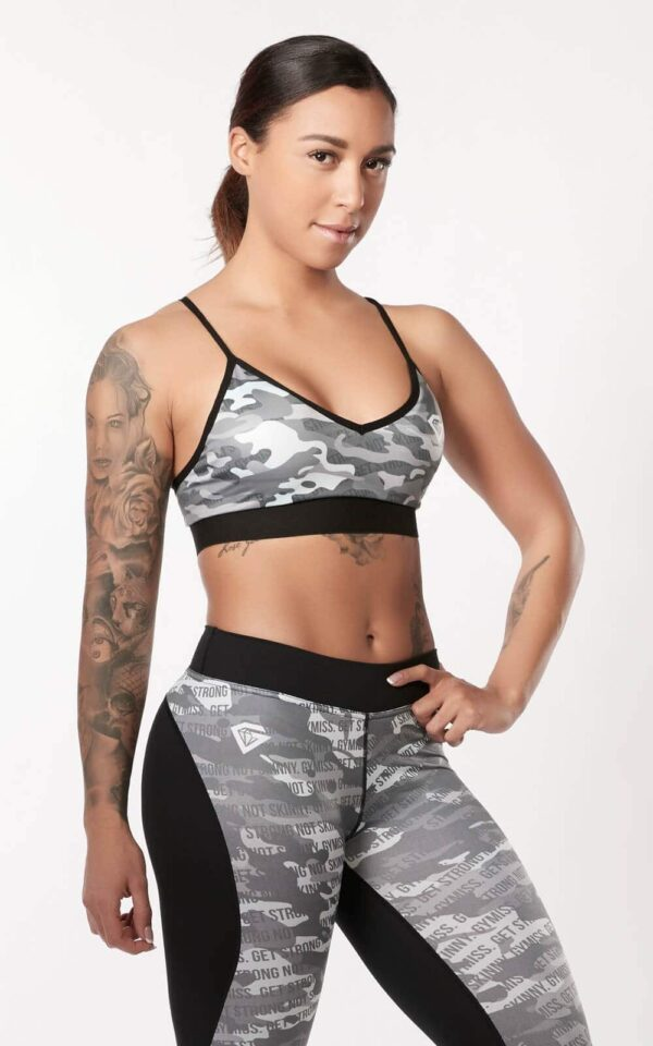GM Sports Bra - Camo Mint 2