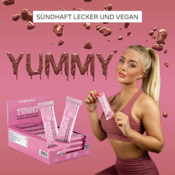 Yummy Vegan Protein Bar - 12er Display 2